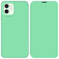 Funda Silicona Líquida con Tapa para Iphone 12 Mini (5.4) color Verde Pastel