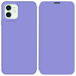 Funda Silicona Líquida con Tapa para Iphone 12 Mini (5.4) color Morado Pastel