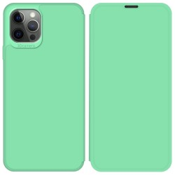 Funda Silicona Líquida con Tapa para Iphone 12 Pro Max (6.7) color Verde Pastel