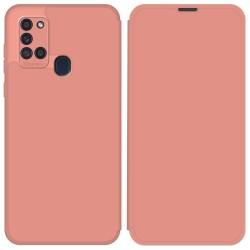 Funda Silicona Líquida con Tapa para Samsung Galaxy A21s color Rosa Pastel