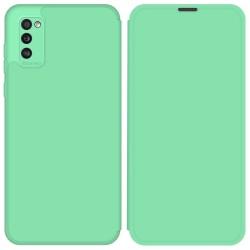 Funda Silicona Líquida con Tapa para Samsung Galaxy A41 color Verde Pastel