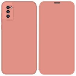 Funda Silicona Líquida con Tapa para Samsung Galaxy A41 color Rosa Pastel