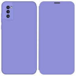 Funda Silicona Líquida con Tapa para Samsung Galaxy A41 color Morado Pastel