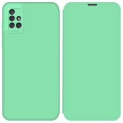 Funda Silicona Líquida con Tapa para Samsung Galaxy A51 color Verde Pastel