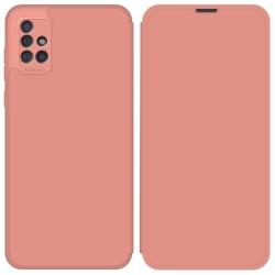 Funda Silicona Líquida con Tapa para Samsung Galaxy A51 color Rosa Pastel