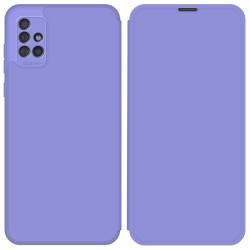 Funda Silicona Líquida con Tapa para Samsung Galaxy A51 color Morado Pastel