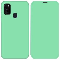 Funda Silicona Líquida con Tapa para Samsung Galaxy M30s / M21 color Verde Pastel