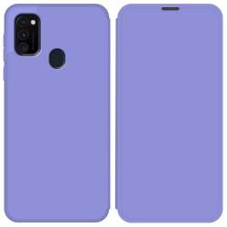Funda Silicona Líquida con Tapa para Samsung Galaxy M30s / M21 color Morado Pastel