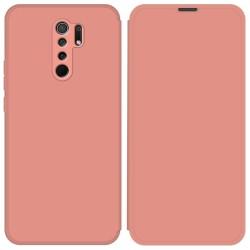 Funda Silicona Líquida con Tapa para Xiaomi Redmi 9 color Rosa Pastel