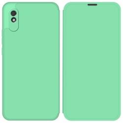 Funda Silicona Líquida con Tapa para Xiaomi Redmi 9A color Verde Pastel