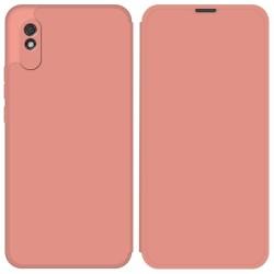 Funda Silicona Líquida con Tapa para Xiaomi Redmi 9A color Rosa Pastel