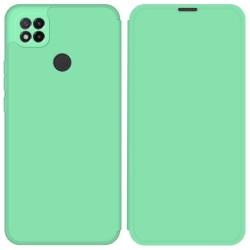 Funda Silicona Líquida con Tapa para Xiaomi Redmi 9C color Verde Pastel