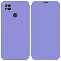 Funda Silicona Líquida con Tapa para Xiaomi Redmi 9C color Morado Pastel