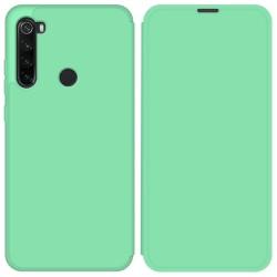 Funda Silicona Líquida con Tapa para Xiaomi Redmi Note 8T color Verde Pastel