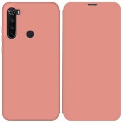 Funda Silicona Líquida con Tapa para Xiaomi Redmi Note 8T color Rosa Pastel