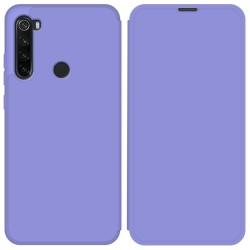 Funda Silicona Líquida con Tapa para Xiaomi Redmi Note 8T color Morado Pastel