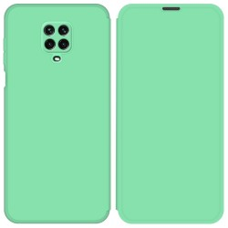 Funda Silicona Líquida con Tapa para Xiaomi Redmi Note 9S / Note 9 Pro color Verde Pastel