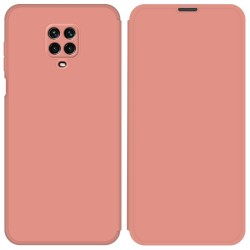 Funda Silicona Líquida con Tapa para Xiaomi Redmi Note 9S / Note 9 Pro color Rosa Pastel