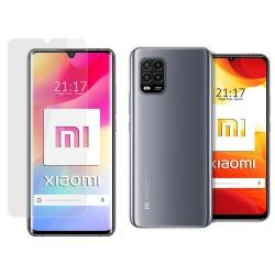 Pack 2 En 1 Funda Gel Transparente + Protector Cristal Templado para Xiaomi Mi 10 Lite