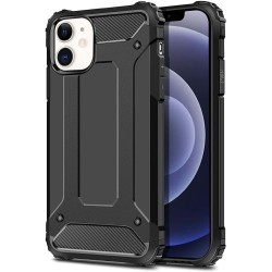 Funda Tipo Hybrid Tough Armor (Pc+Tpu) Negra para Iphone 12 / 12 Pro (6.1)