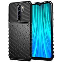 Funda Gel Flexible Thunder Armor Rugged para Xiaomi Redmi 9 color Negra