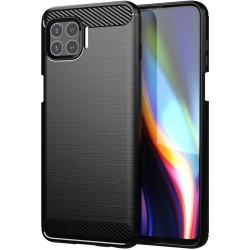 Funda Gel Tpu Tipo Carbon Negra para Motorola Moto G 5G Plus