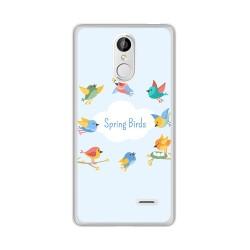 Funda Gel Tpu para Leagoo M5 Diseño Spring Birds Dibujos