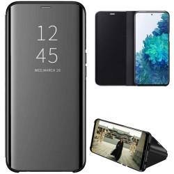 Funda Flip Cover Clear View para Samsung Galaxy S20 FE color Negra