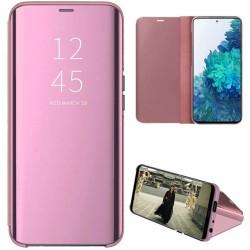 Funda Flip Cover Clear View para Samsung Galaxy S20 FE color Rosa