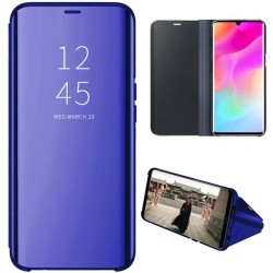 Funda Flip Cover Clear View para Xiaomi Mi Note 10 Lite color Azul