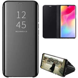 Funda Flip Cover Clear View para Xiaomi Mi Note 10 Lite color Negra