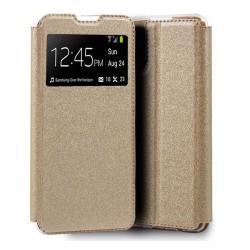Funda Libro Soporte con Ventana para Xiaomi Mi 10T / Mi 10T Pro color Dorada