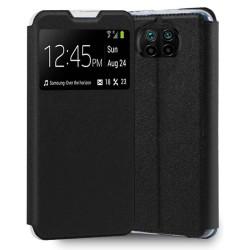 Funda Libro Soporte con Ventana para Xiaomi Mi 10T Lite Color Negra