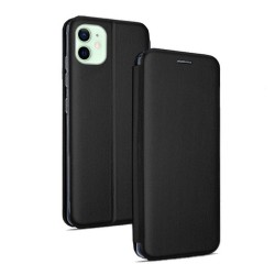 Funda Libro Soporte Magnética Elegance Negra para Iphone 12 / 12 Pro (6.1)