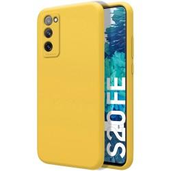 Funda Silicona Líquida Ultra Suave para Samsung Galaxy S20 FE color Amarilla