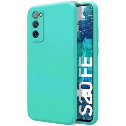 Funda Silicona Líquida Ultra Suave para Samsung Galaxy S20 FE color Verde