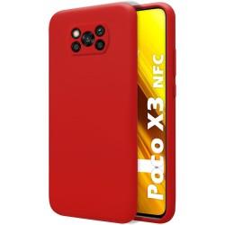 Funda Silicona Líquida Ultra Suave para Xiaomi POCO X3 NFC / X3 PRO color Roja