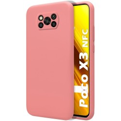 Funda Silicona Líquida Ultra Suave para Xiaomi POCO X3 NFC / X3 PRO color Rosa