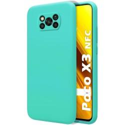 Funda Silicona Líquida Ultra Suave para Xiaomi POCO X3 NFC / X3 PRO color Verde