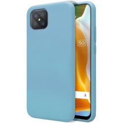Funda Silicona Líquida Ultra Suave para Oppo Reno 4Z 5G color Azul