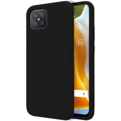 Funda Silicona Líquida Ultra Suave para Oppo Reno 4Z 5G color Negra