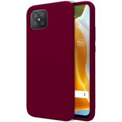 Funda Silicona Líquida Ultra Suave para Oppo Reno 4Z 5G color Roja Corinta