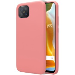 Funda Silicona Líquida Ultra Suave para Oppo Reno 4Z 5G color Rosa