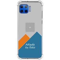 Personaliza tu Funda Silicona Anti-Golpes Transparente con tu Fotografía para Motorola Moto G 5G Plus personalizada