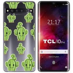Funda Gel Transparente para TCL 10 Pro diseño Cactus Dibujos