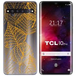 Funda Gel Transparente para TCL 10 Pro diseño Hojas Dibujos