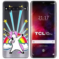 Funda Gel Transparente para TCL 10 Pro diseño Unicornio Dibujos