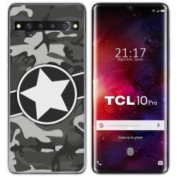 Funda Gel Tpu para TCL 10 Pro diseño Camuflaje 02 Dibujos