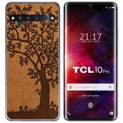 Funda Gel Tpu para TCL 10 Pro diseño Cuero 03 Dibujos