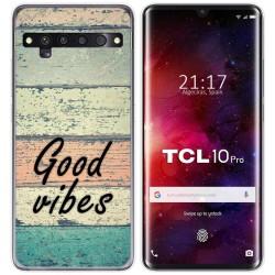 Funda Gel Tpu para TCL 10 Pro diseño Madera 01 Dibujos
